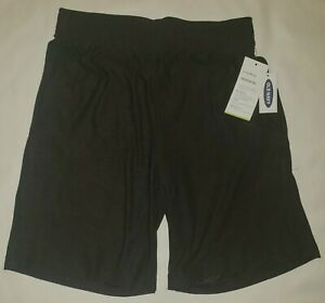 Old Navy Active Breathe On Boys Large 10 - 12 Black Athletic Shorts New w/Tags