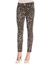 Kate Spade New York Autumn Leopard Broome Street Skinny Jeans Classic Beige 24