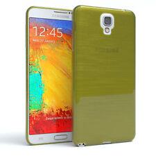 Schutz Hülle für Samsung Galaxy Note 3 Neo Brushed Cover Handy Case Grün