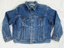 Vtg 90s Lee 101 J 4 Pocket Denim Jacket Sz 46 R Work Wear Faded Trucker