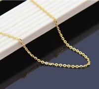 "Wholesale ITALY 18"" Pure 18K solid Gold Necklace Lady Chain  AU750 1.5mm"