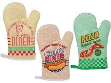 Topfhandschuhe Ofenhandschuhe Handschuhe Topflappen Backofen Grill Vintage Retro