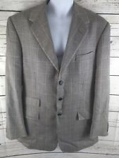 Ralph Lauren Purple Label Cashmere Silk Blazer Jacket 42L Sports Coat Glen Plaid