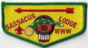 OA Sassacus Lodge 10  Flap GRN Bdr. Indian Trails, CT [MX-9295]