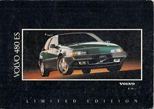 VOLVO 480 ES Limited Edition 1.7 1992 UK Opuscolo Vendite sul Mercato PIEGA