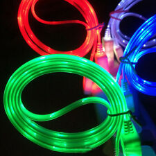 New LED V8 Lightening Micro USB Charger Sync Data Cable for Samsung Adapter Cord