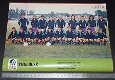 CLIPPING POSTER FOOTBALL 1986-1987 TOULOUSE FC TFC Téfécé STADIUM