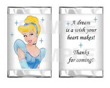 Princess CINDERELLA Birthday Party mini candy bar wrappers Goody Bags Favors