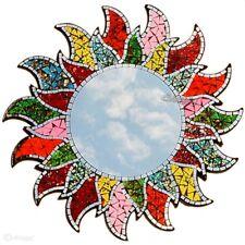 Mosaik Sonnenspiegel 60cm mehrfarbig Mosaikspiegel Wandspiegel Sonne Orient