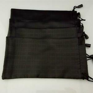 Black Microfibre Pouch For Sunglasses Phones Spectacles Soft Wallet
