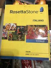 Rosetta Stone Italian Version 4, Level 1, 2, 3, 4, 5 (1-5) Italiano, Good