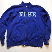 Nike Womens Blue Full Zip Sweatshirt Logo Size Large A184