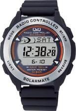 CITIZEN Q & Q Chronograph Solar Digital Radio (Solar Mate) MHS7 japan