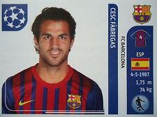 Panini 492 Cesc Fabregas FC Barcelona UEFA CL 2011/12