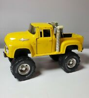 Vintage Tootsie toy Die Cast Monster Truck Yellow Model Toy Mud Stacks Ford