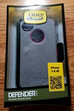 New Otterbox Defender Series for iPhone 4/4s, Gray/Pink, Screen Protector, Clip