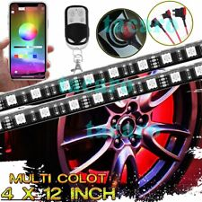 All-Color Wheel Well LED Light 4pc Custom Neon Strip Rim Tire bluetooth Control