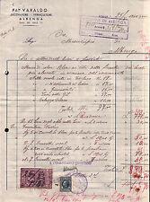 FATTURA PITTORE VARALDO 1940 A COMUNE DI ALBENGA - OSCURAMENTO VETRI WWII -  3-2