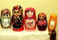 Russian Babushka Doll Collection.  Six Delightful Russian Dolls