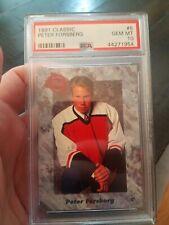 Peter Forsberg - PSA 10 - 1991 Classic #5 - Rookie RC - Flyers - HOF - Free Ship