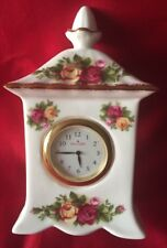 ROYAL ALBERT England Old Country Roses Carriage Clock
