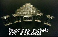 10 X 1 Gram .999 Fine Silver/Gold Bar Acrylic Holders/Cases (15mmx9mmx3mm )