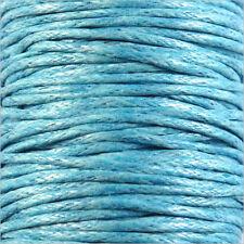 Cordon Coton Ciré 1mm – 4m Bleu Azur pour Colliers et Bracelets de perles