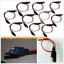 10 Pcs Car Off-Road 18 Gauge 2-Pin Quick Disconnect Wire Harness SAE Connectors