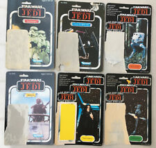 Star Wars Figure Vintage Original Backing Cards Bundle of 6  Varying Conditions