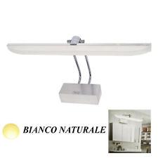 APPLIQUE LAMPADA PARETE MURO SPECCHIO BAGNO LED LUCE BIANCO NATURALE OPACO 10W