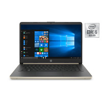 "NEW HP 14"" HD Intel i5-1035G7 10th Gen. 3.70GHz 256GB SSD 8GB RAM Win10 Gold"