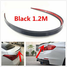 Black 1.2M Roof Trunk Spoile Rear Wings Lip Protector Trim Sticker For Car SUV