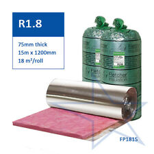 R1.8 75mm Fletcher Permastop® Building Blanket Insulation - Light Duty Foil