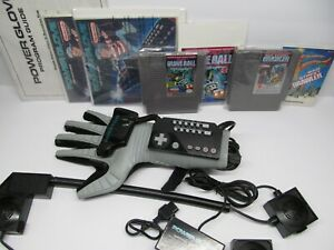 NES NINTENDO POWER GLOVE+ GAMES+MANUALS+ ALL ORIGINAL  AUTHENTIC LOT!! MUST SEE.