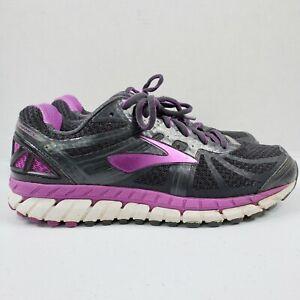 Brooks Ariel 16 Running Shoes Women 10.5 Wide D Black Purple 1202191D059 Sneaker