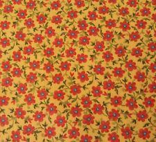 "1 yd 13"" Sweet Nectar Possibilities Quilting Treasures Dark Orange Yellow Floral"