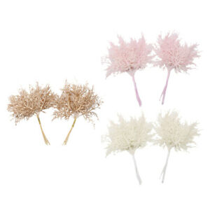 2pcs Fake Leaves Foliage for Bouquet Garland Xmas Party Decor Accessories