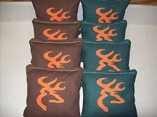 Browning Deer Custom Cornhole Bags FREE BLACK CARRYING TOTE..