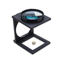"""3X Large Folding Magnifier 4-1/8"""" Lens Jewelry Making Inspection Magnifying Tool"""