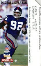 Metrocard Ny Giants Michael Strahan Nfl Football subway metro card nyc modell's