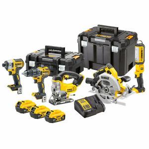 DEWALT® Power Tool Kit, Brushless, 18v, XR in Yellow / Black, 5 Piece