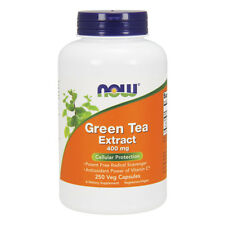 NOW FOODS Green Tea Extract 400mg+60mg Vit.C 250 capsule - the verde