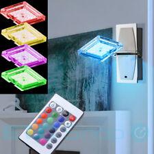 Luxus RGB LED Wand Leuchte Esszimmer Glas Chrom Lampe Fernbedienung Living-XXL