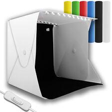 Portable Mini Photo Box Light Photography Room LED Lighting Tent Cube 6 Backdrop