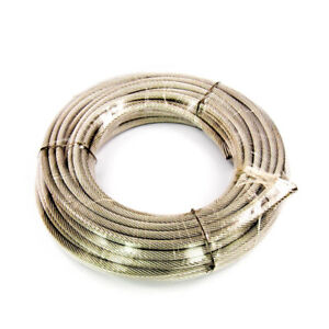 """Dayton 304 Stainless Steel Wire Rope Cable, 7/16"""" O.D. x 100 Ft, 7 x 19 Strand"""
