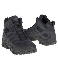 Merrell Men J15853 Moab 2 Mid Soft Toe Waterproof Tactical Boot Black