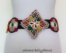 Bauchtanz Tribal Hippie Perlenmedaillon Gürtel, 86 cm lang, Handarbeit, LARP