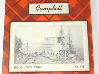 HO 1/87 Scale Campbell Models 386-2495 Quick's Coal Craftsman Building Kit