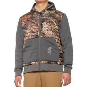 BROWNING Contact VS Full Zip Mossy Oak Camouflage Insulated Hoodie Jacket XL