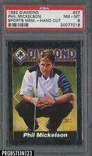 1992 Diamond Golf #27 Phil Mickelson RC Rookie PSA 8 NM-MT